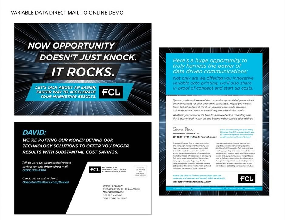 FCL Variable Data Direct Mail to Online Demo