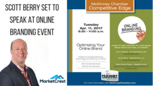 Scott Berry of MarketCrest to Speak on Panel for McKinney Chamber of Commerce