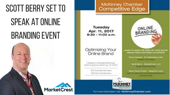 Scott Berry of MarketCrest to Speak on Panel for McKinney Chamber of Commerce