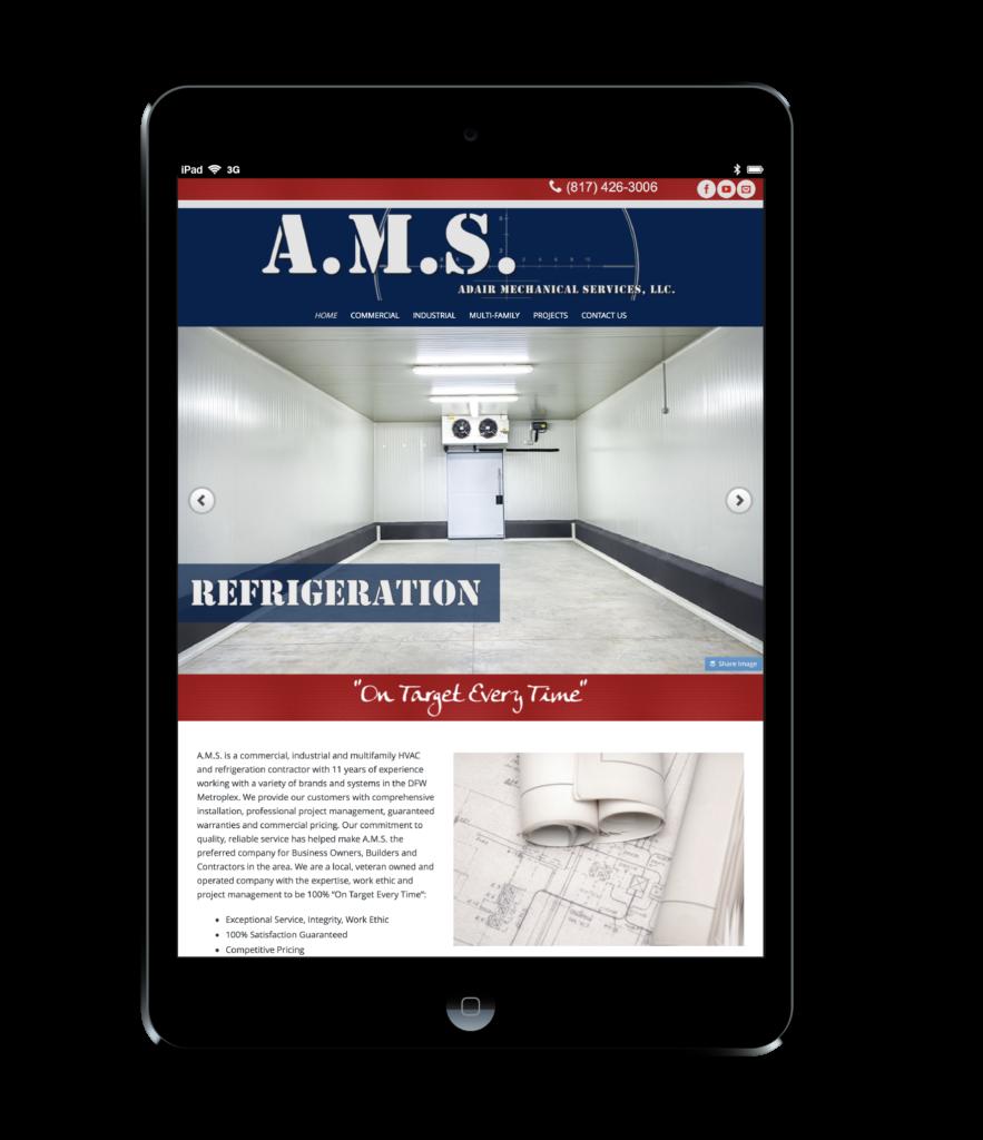 A.M.S. Mechanical Website Design Black Ipad
