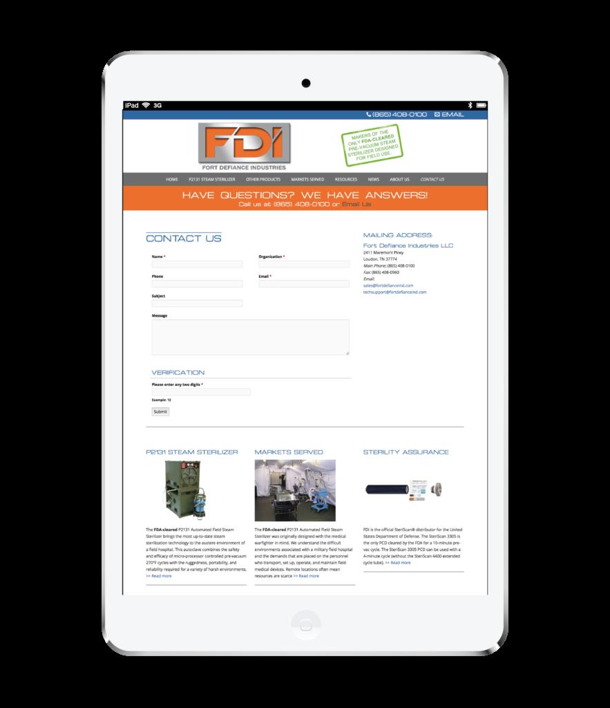 FDI Website Design White Ipad