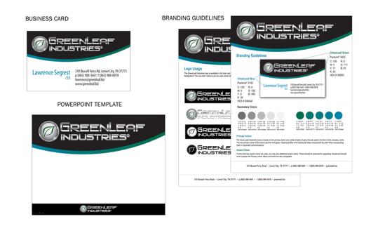 GreenLeaf Industries Manufacturing Website Branded by MarketCrest, LLC