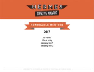 Hermes Award Honorable Mention Image